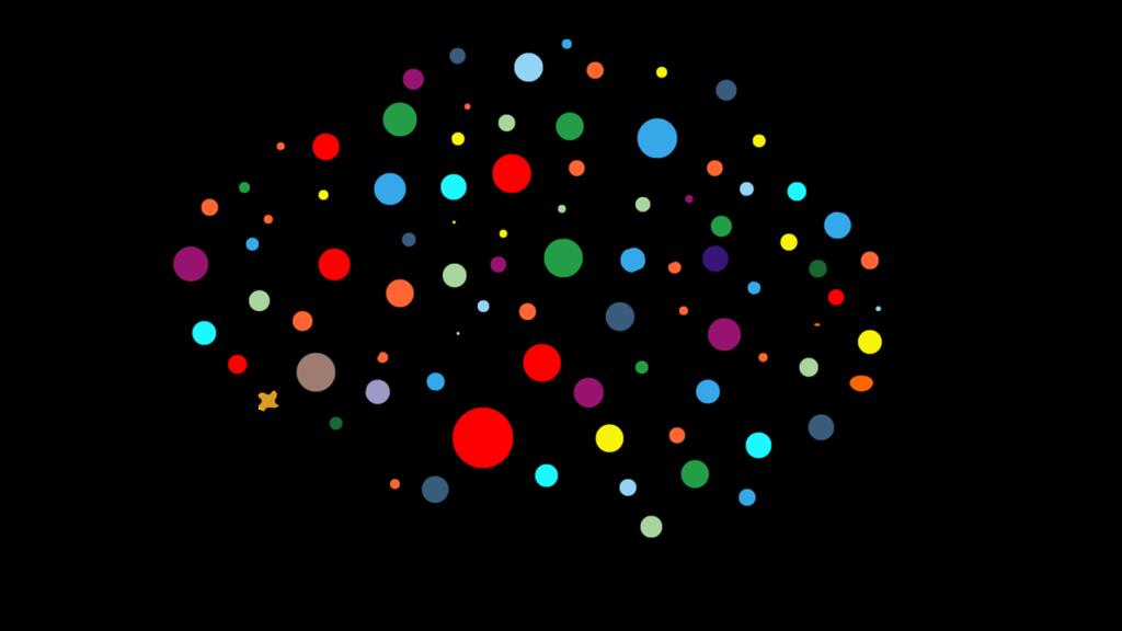 Illustration d'un cerveau sous forme d'un réseau neuronal artificiel